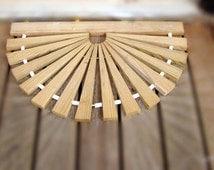 Wooden Mud Mat, Weather Resistant Door Mat