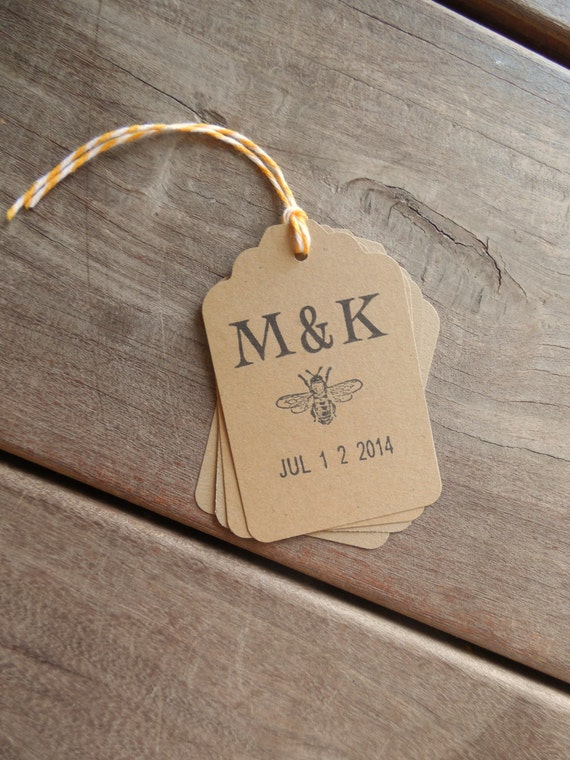 ... to Bee Wedding Date Favor Tags-Kraft Wedding Tags-Set of 10 on Etsy