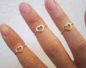 Choose a color Rose Gold, Gold or Silver ( plated over sterling silver) Heart Toe Ring, Also Midi Ring, knuckle Ring.