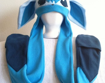 Made-to-Order Glaceon Inspired Fleece Hat