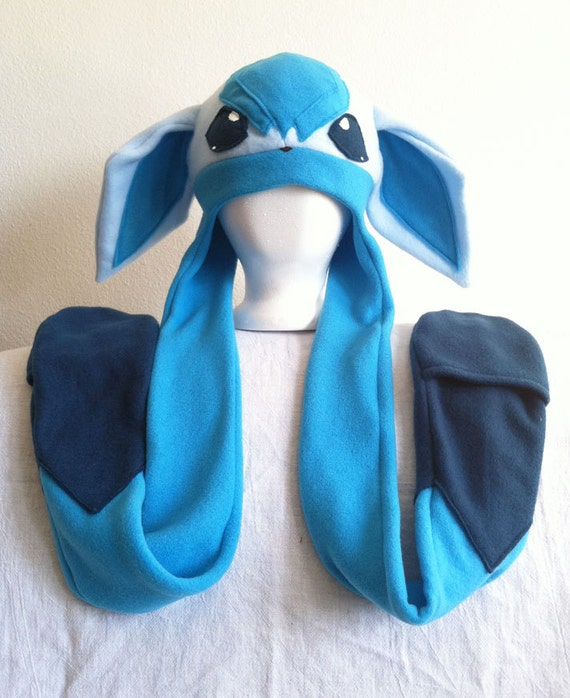 glaceon fleece hat by - photo #6