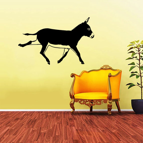 Donkey Decal Donkey Wall Decals Wall Vinyl By Supervinyldecal