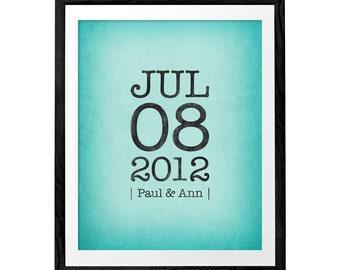 Personalized Anniversary gift Custom anniversary print customized wedding anniversary print custom anniversary wedding gift