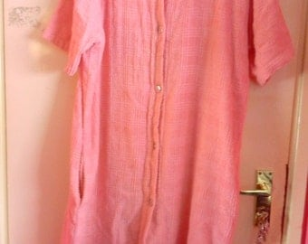 Pink beach robe or house coat size large