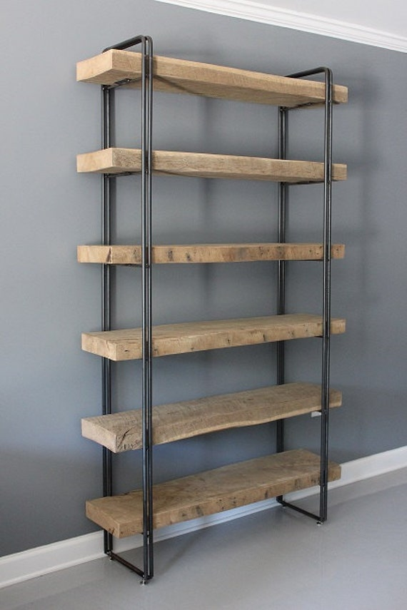Reclaimed Wood Bookcase Shelving Unit Storage Industrial