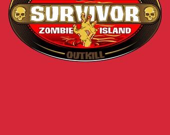Survivor t-shirt Zombie Island - Funny Reality Survivor TV Zombie tshirt