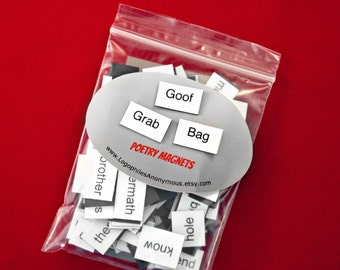 Goof Grab Bag Poetry Magnet Set - Clearance Refrigerator Poetry Word Magnets