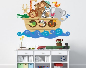 Noahs Ark Wall Decal - REUSABLE WALL Decal
