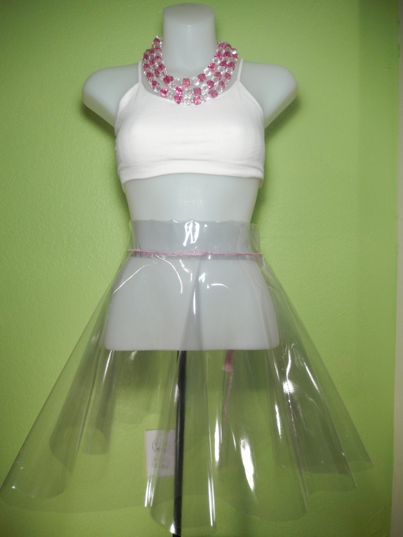 Clear Plastic Skirt 87
