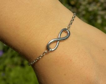 Infinity Charm Bracelet - Silver or Copper