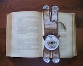 Tabby Cat Bookmark - handmade crochet knit