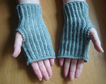 Gray Fingerless Gloves, Wrist Warmers