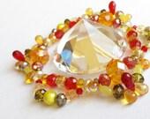 Interesting art, Spinning sparkles, Makes bokeh-like flecks of light orbit your ceiling, Rotating, Rainbow light, Red, orange, and yellow