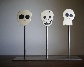 "Halloween Steel Skulls ""Skullpture"" One of A Kind"