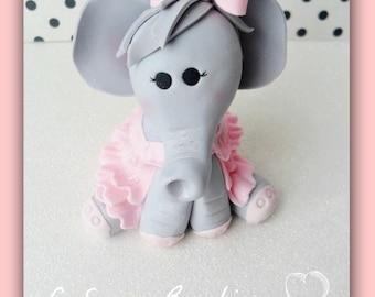 3D Fondant Elephant Cake Topper