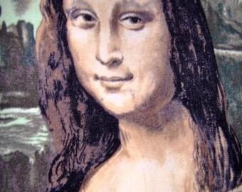 Mona Lisa La Gioconda Fleece Blanket Throw