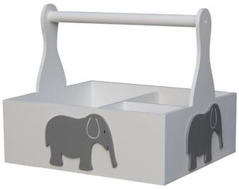 Grey Elephant Nursery Organizer Caddy