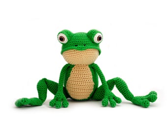 Amigurumi Green Frog : Frog amigurumi Etsy