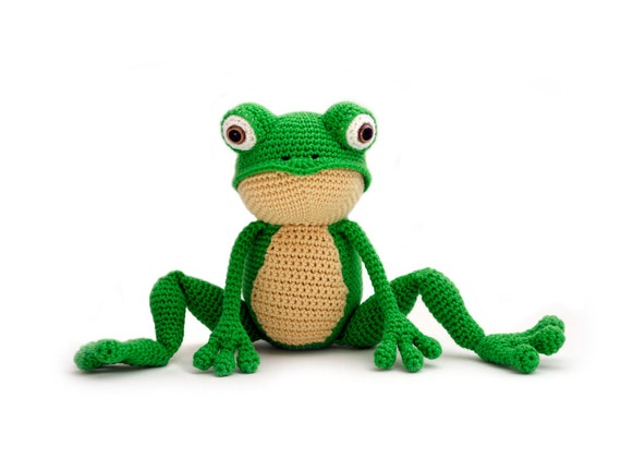 Crochet pattern Frog - amigurumi - instant download pdf