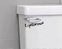 HARRY POTTER Expelliarmus Sticker - Funny Harry Potter Decal for Toilet Trash Can Hamper Wall Sticker