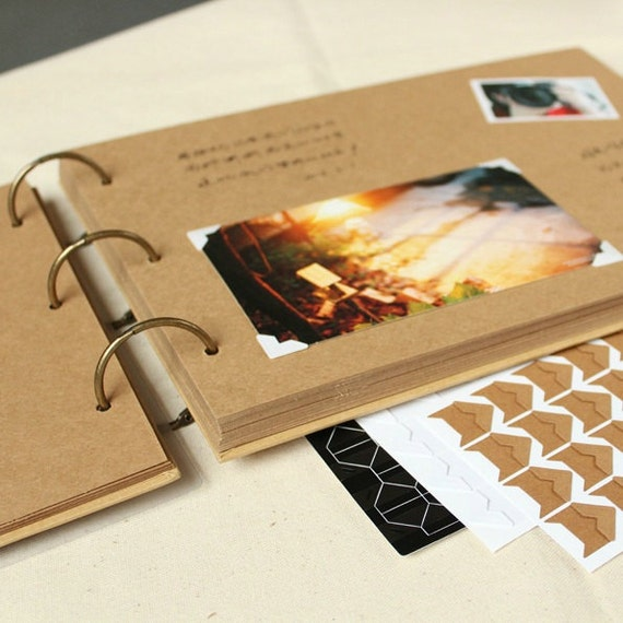 A4 Ring Binder Photo Album 56 Pages// Kraft By PapergeekMY