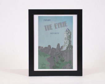 Vintage The Eyrie Game of Thrones -inspired print