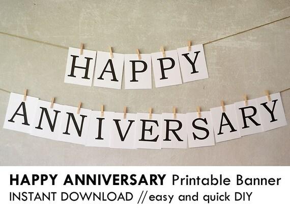 Anniversary Banner Printable Happy Anniversary Banner