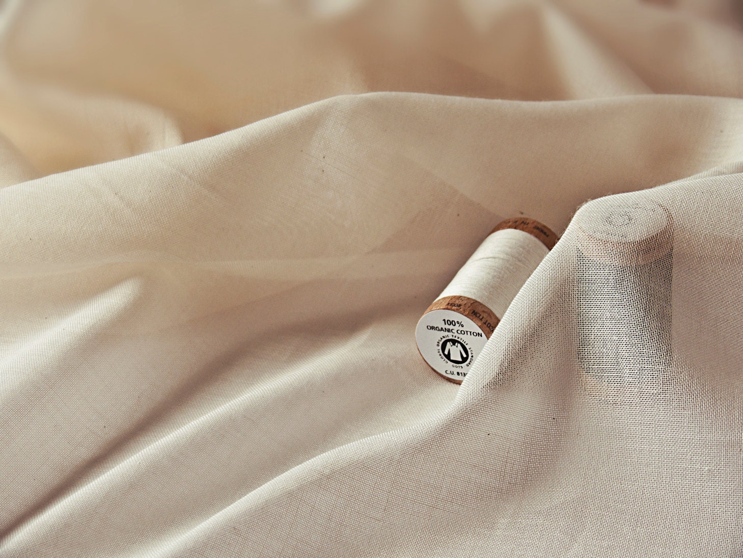 Organic cotton voile fabric undyed unbleached sheer fabric for Voile fabric