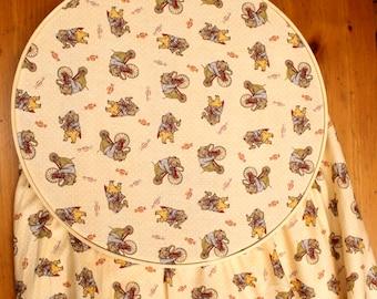 Pennyfarthing Baby Crib Sheet - Elephant Crib Sheet - Circus Baby Theme - Fitted Crib Sheet - Yellow Baby Bedding - Bicycle Baby Bedding