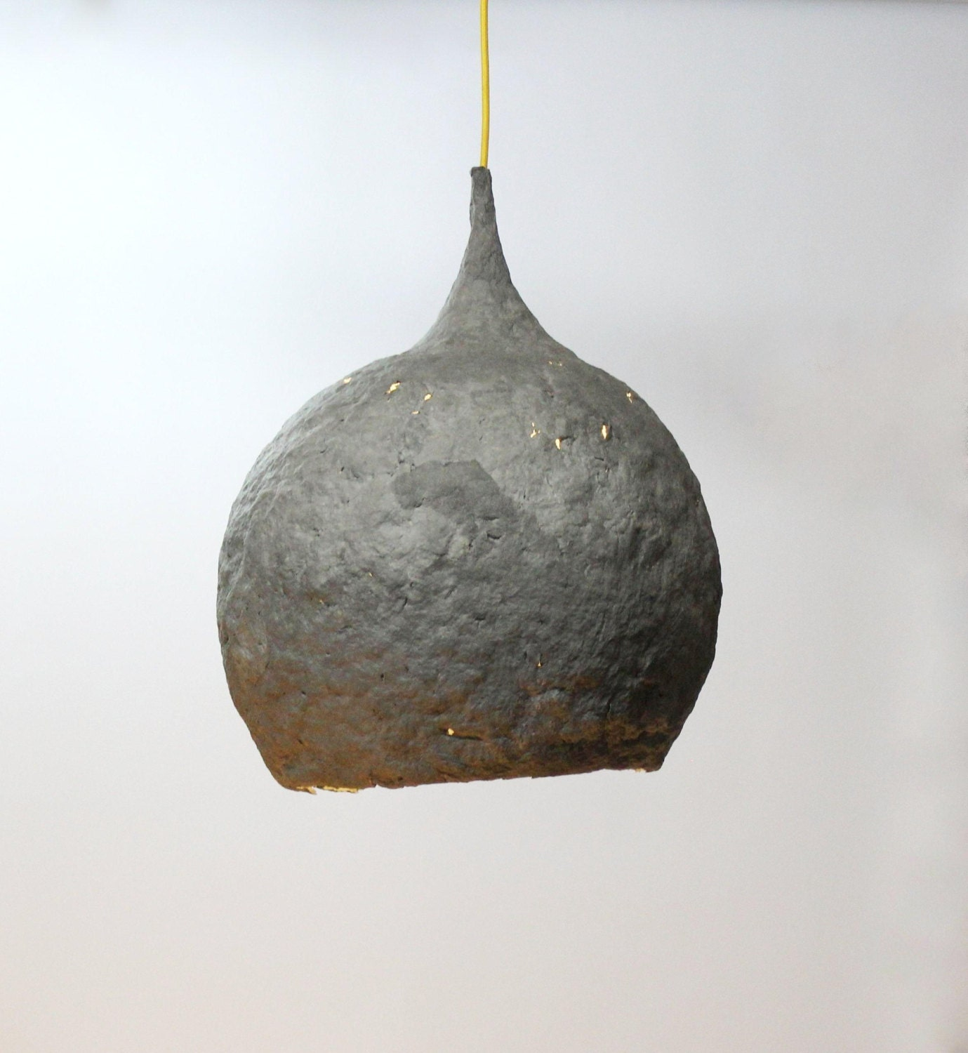 Paper mache lamp drop lamp pendant light hanging by for How to make paper mache lamps
