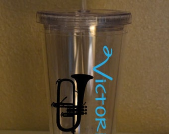 Marching Band Tumbler - Personalized Mellophone Tumbler