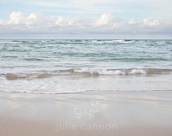 Beach Photography -  Ocean Print  -  Seaside Art  -  Soft Pastel Tones  - Blue - Fine art for your home
