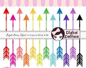 Digital Clip Art, Arrow Clipart, Graphics Download, Printable Arrows