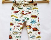 Organic Comic Baby Leggings - Made to Order