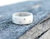 Antler Wedding Band / Antler Ring / Deer Antler Ring / Organic Wedding Band / Natural Antler Ring / Sami Ring / Nordic Sami Ring