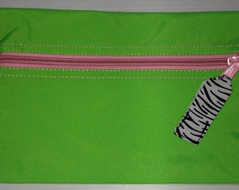 Zippered Pencil pouch - free monogram