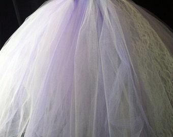 Ivory and Lilac  Tutu Dress with matching Headband, Tutu Dress, Flower Girl Tutu Dress, Flower Girl, Lavender Tutu Dress