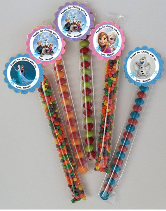 It is a photo of Lucrative Frozen Party Bag Labels