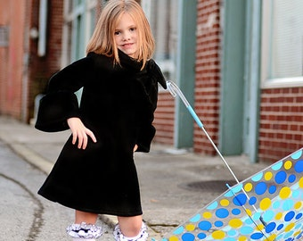 6-8 Long Sleeve fleece dress