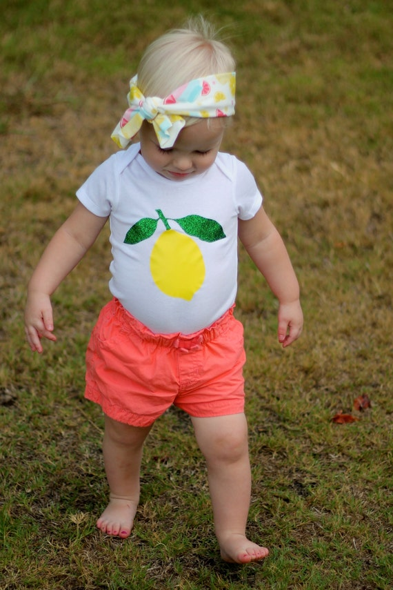 Olive & Birdie Etsy Shop Lemon Bodysuit