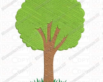 Simple Tree Embroidery Design in 3x3 4x4 and 5x7 Sizes