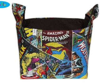 Storage Bin | Fabric Storage Bin | Bedroom Storage Basket | Marvel Bin | Avengers Basket