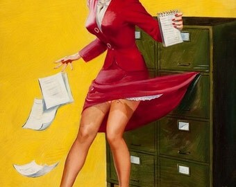1950's Vintage Pin-Up Girl Poster 22
