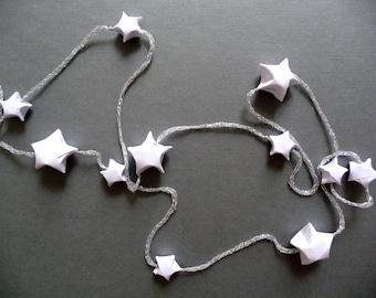 Origami paper stars garland