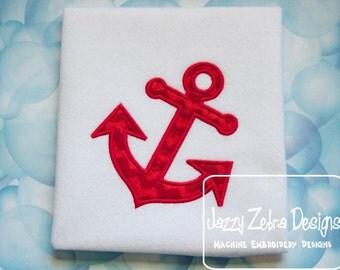 Anchor Appliqué embroidery Design - anchor appliqué design - beach appliqué design - nautical applique design