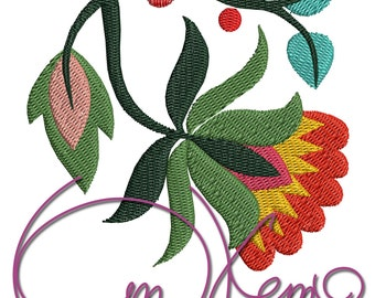 MACHINE EMBROIDERY FILE - Hungarian flower
