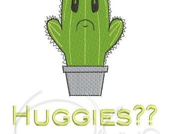 MACHINE EMBROIDERY FILE - Cactus huggies