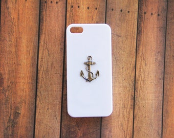 White iPhone 5c Cover Anchor iPhone Case Nautical iPhone Case Nautical Galaxy S3 Case Galaxy S4 Nautical White S3 Case White S4 Case