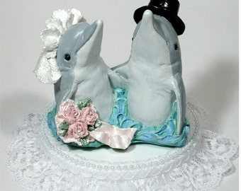 miami dolphin wedding cake toppers dolphin cake topper etsy 17330