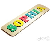 Personalized Name, Puzzle Name, Personaziled Toy, Personalized Baby Name, wooden custom name puzzle R602